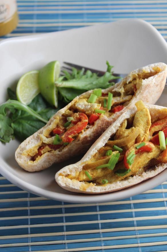 Chicken Curry Pita (good idea for work lunch)