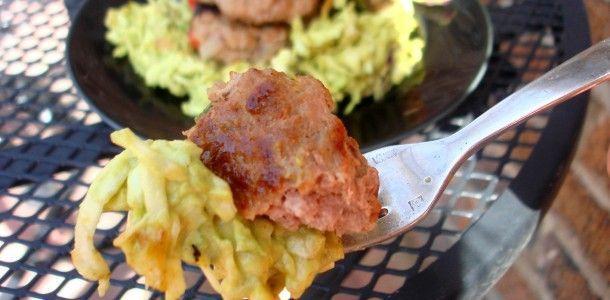 southwest turkey burgers over spicy avocado slaw #dinner #recipes