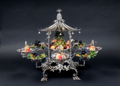 Chinoiserie - Silver Epergne - Thomas Pitts, 1759
