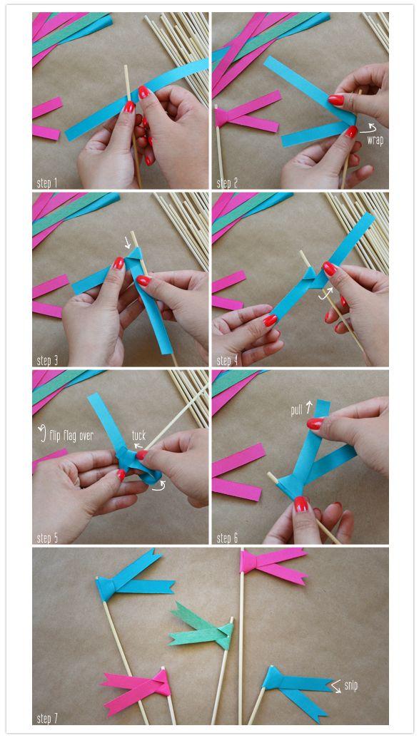 DIY paper swizzle sticks via 100 layer cake