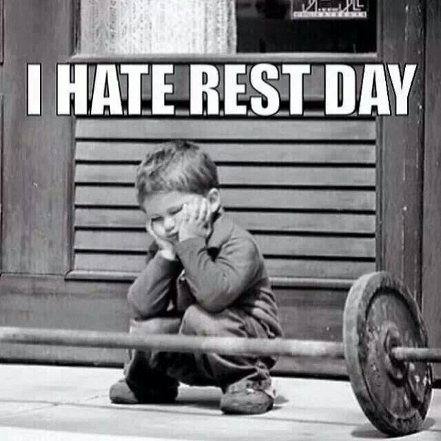 I hate rest day!  Come get your fitness on at Fitness Together in Novi, MI!  Get personal one-on-one-training, a nutrition guideline, and other services that will change your life for the better!  Call (248) 348-9230 or visit our website www.fitnesstogether.com/novi for more information!