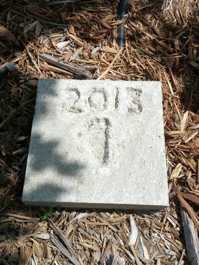 Footprint step stone for garden trenton pinterest