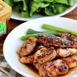 Korean BBQ Chicken - Que fome! | DIY Projects | Pinterest