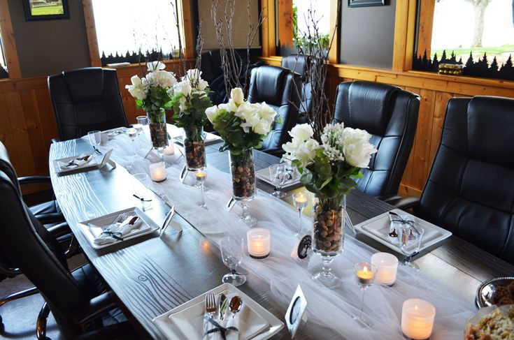 Boardroom party business party pinterest for Conference room setup ideas
