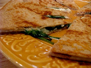 spinach feta quesadilla | my pinterest projects | Pinterest
