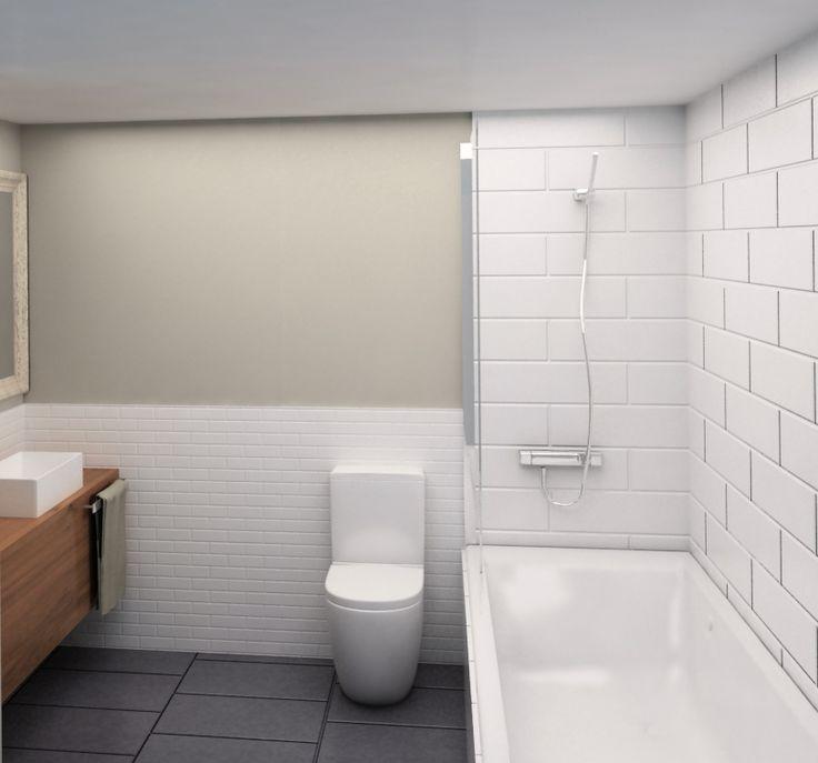 Reforma Baño En Vigo:Proyecto de reforma de baño en 3D #reformas #interiorismo #Barcelona