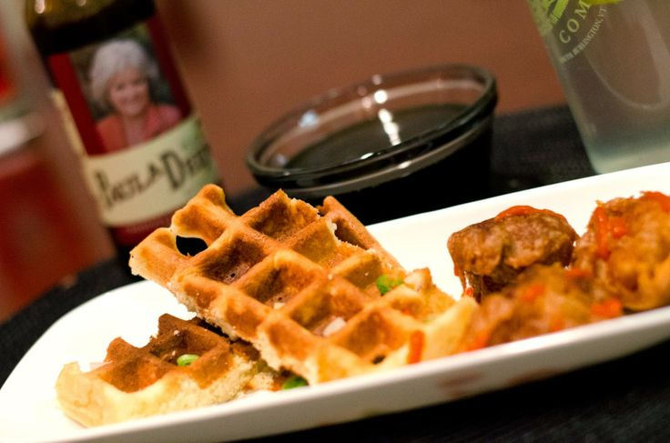 Beer Battered Fried Chicken and Waffles | Dinnery Delights | Pinterest
