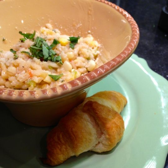 Risotto With Corn, Tomatoes & Basil Recipes — Dishmaps