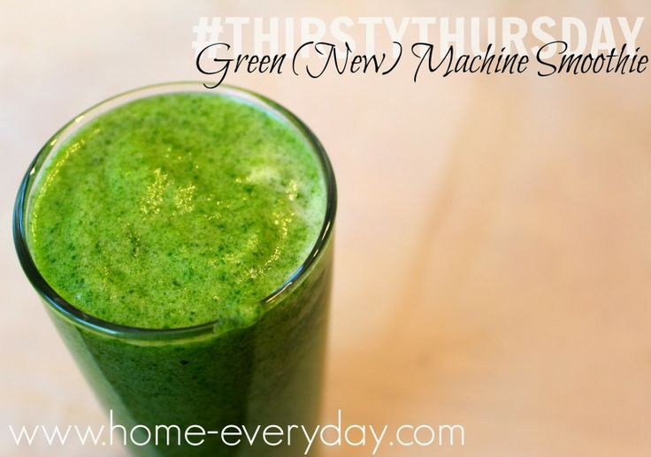 Green Machine Smoothie http://www.home-everyday.com/2014/01/thirsty ...