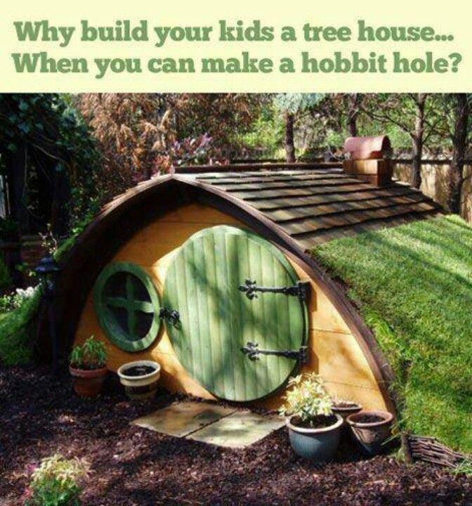 Hobbit hole playhouse diy pinterest for How to build a hobbit hole playhouse