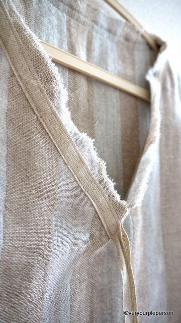cotton tape at neckline