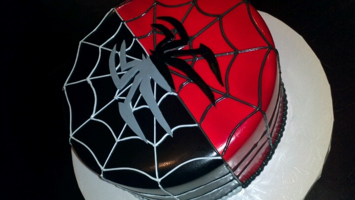Black spiderman cakes - photo#3