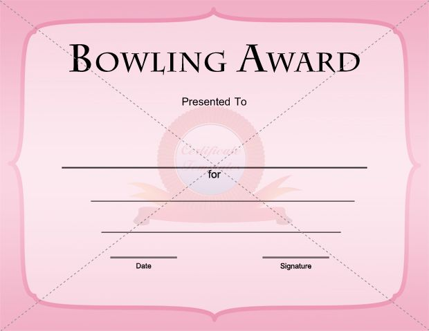 Bowling certificate templates free eczalinf bowling certificate templates free yadclub Images