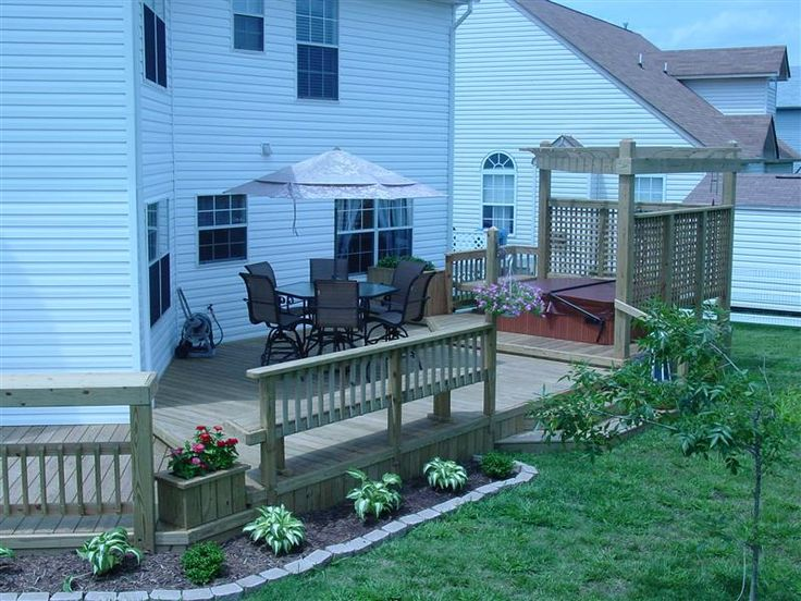 Images Of Landscaping Around Deck : Landscaping around deck beautifying the yard