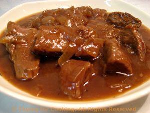 Beef Braised in Beer with Caramelized Onions