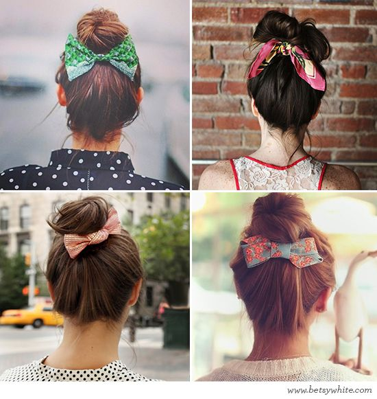 Trendspotting: Brilliant Bows and Buns / Flights of Fancy (click for image sources)
