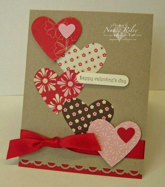 День святого валентина открытка своими руками для мамы