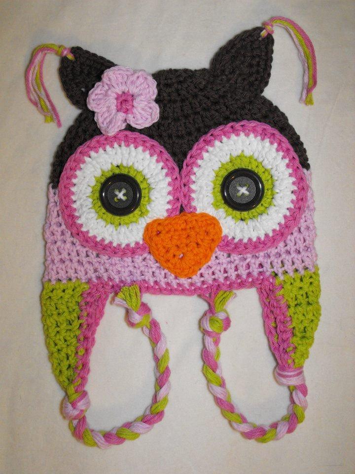 Crochet Owl Hat : Owl hat, crochet owl hat, baby hat, crochet kids hat, little girls hat