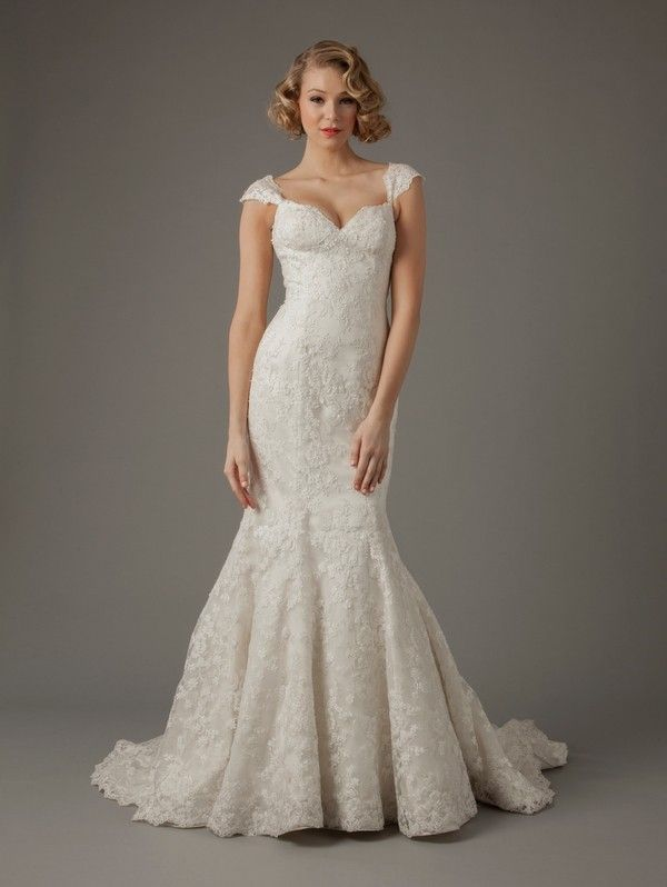 Trumpet Wedding Dresses Kleinfeld : Kleinfeld collection lace mermaid trumpet sweetheart wedding dresses