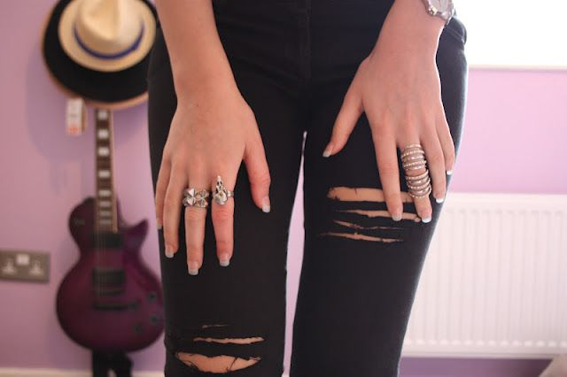 DIY ripped black jeans | My Style | Pinterest