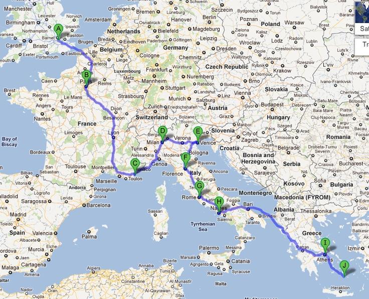 travelled through europe months budget