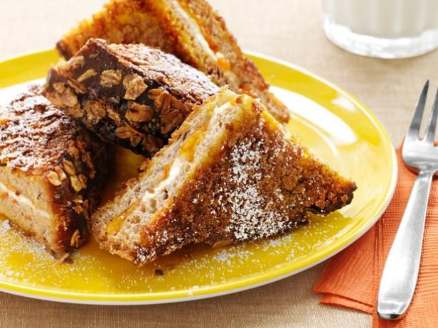 Melissa's Crunchy Bran French Toast from Food Network Magazine #Grains #Protein #MyPlate