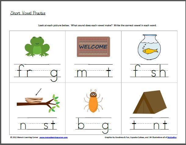 math worksheet : medial vowel worksheets for kindergarten  learning short vowel  : Vowels Worksheets For Kindergarten