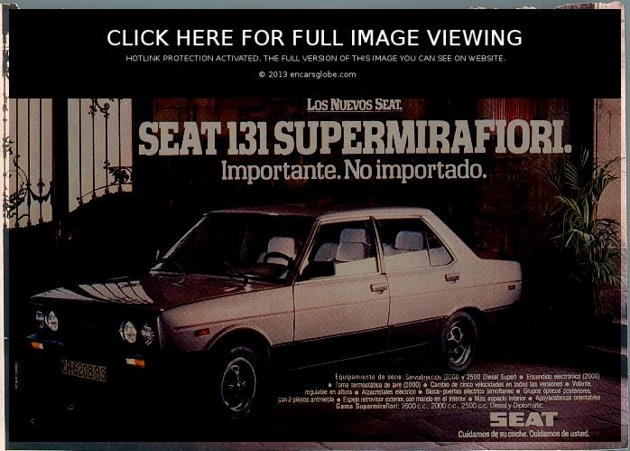 "Seat 131 Mirafiori, in 1980 my uncle ""Lolo"" bough one of this in navy"