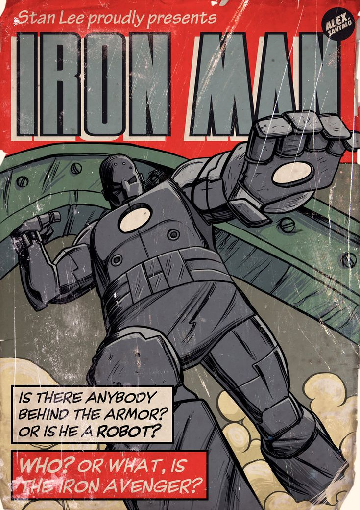 Classic Comic Book Covers - Alex Santalo | Iron Man ...