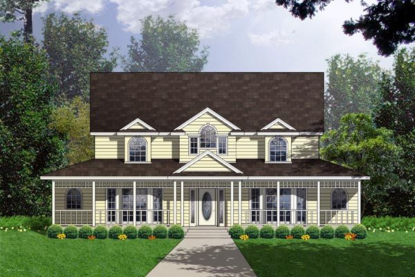 Country Ranch Southern House Plan 77751