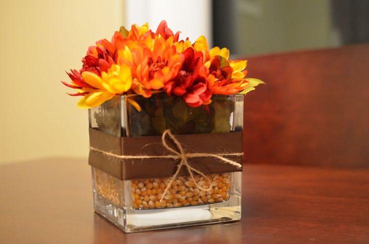 Easy Fall Flower Arrangement Crafts Diy Pinterest