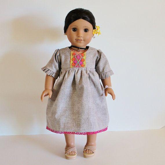 18 inch american girl doll dress josefina. Black Bedroom Furniture Sets. Home Design Ideas