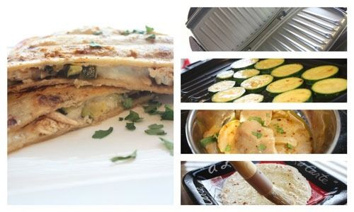 Grilled Lime Chicken Zucchini Quesadillas Recipe (On George Foreman)