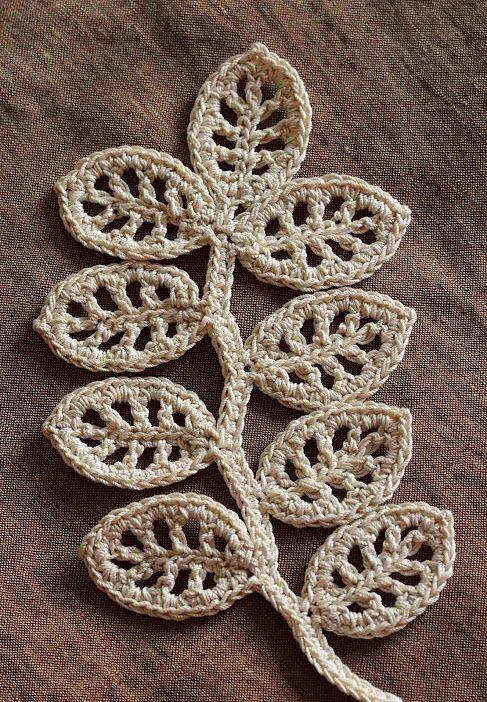 Crochet Leaf Pattern : crochet leaf pattern String Things Pinterest
