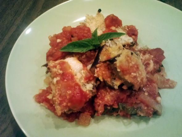 Baked Eggplant Parmesan | Vegetarian and vegan | Pinterest