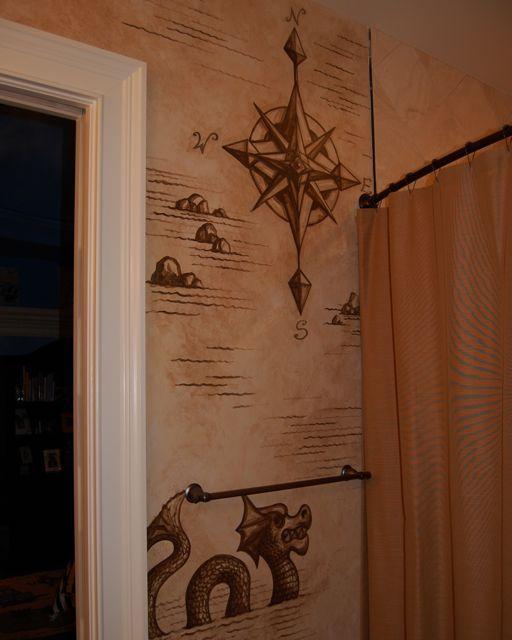 pirate map mural Home Decor Ideas Pinterest