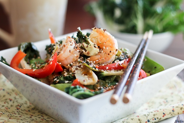 ... more do I want?! Shrimp and Baby Bok Choy Stirfry | The Healthy Foodie