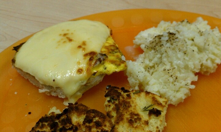 ... rice, toasted focaccia, turkey burger with spicy mustard, egg, cheese