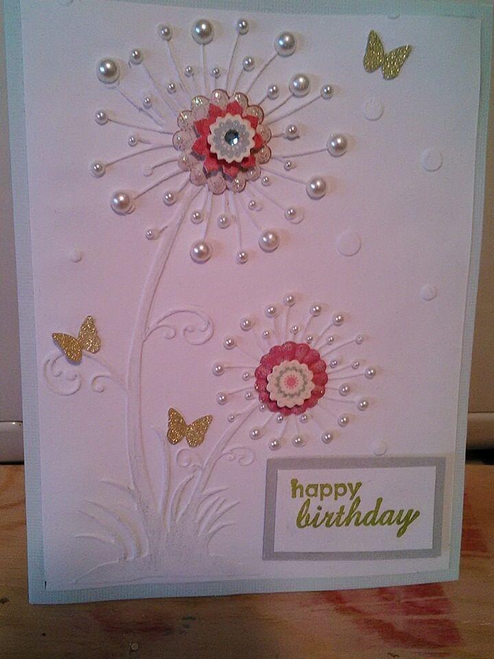 Embossed card   Greeting Card Ideas   Pinterest