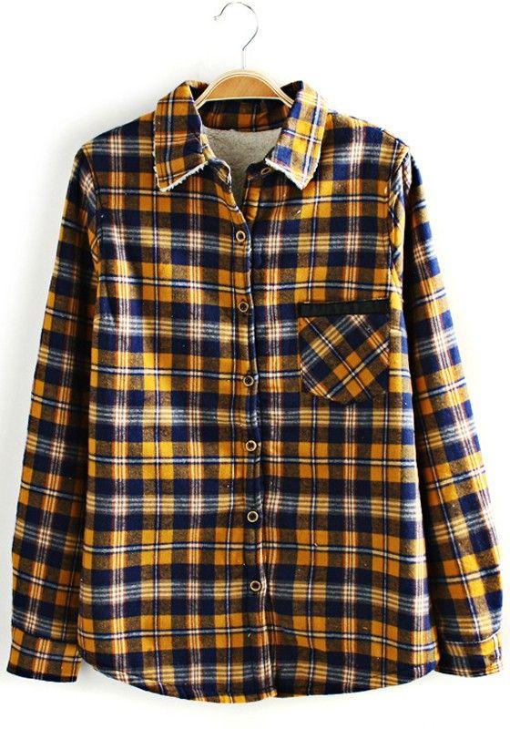 Yellow Long Sleeve Blouse 59