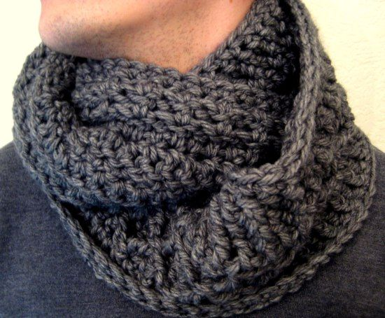 Crochet Mens Scarf : Mens infinity scarf. Diamond pattern Crochet - Scarves Pinterest