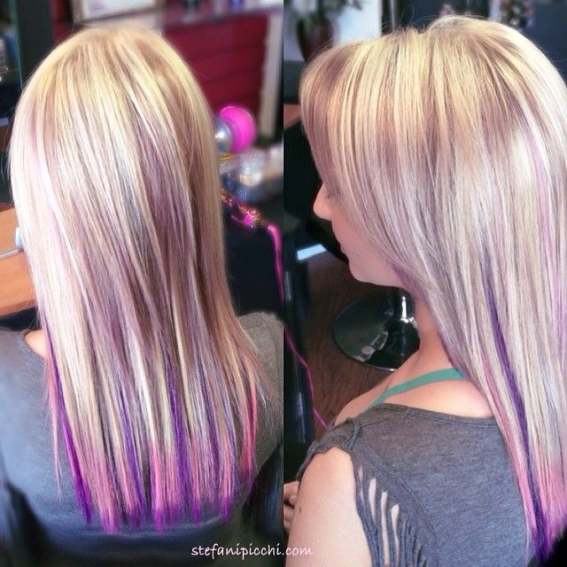 Red Highlights Blonde Highlights And Pastel Pink On Pinterest
