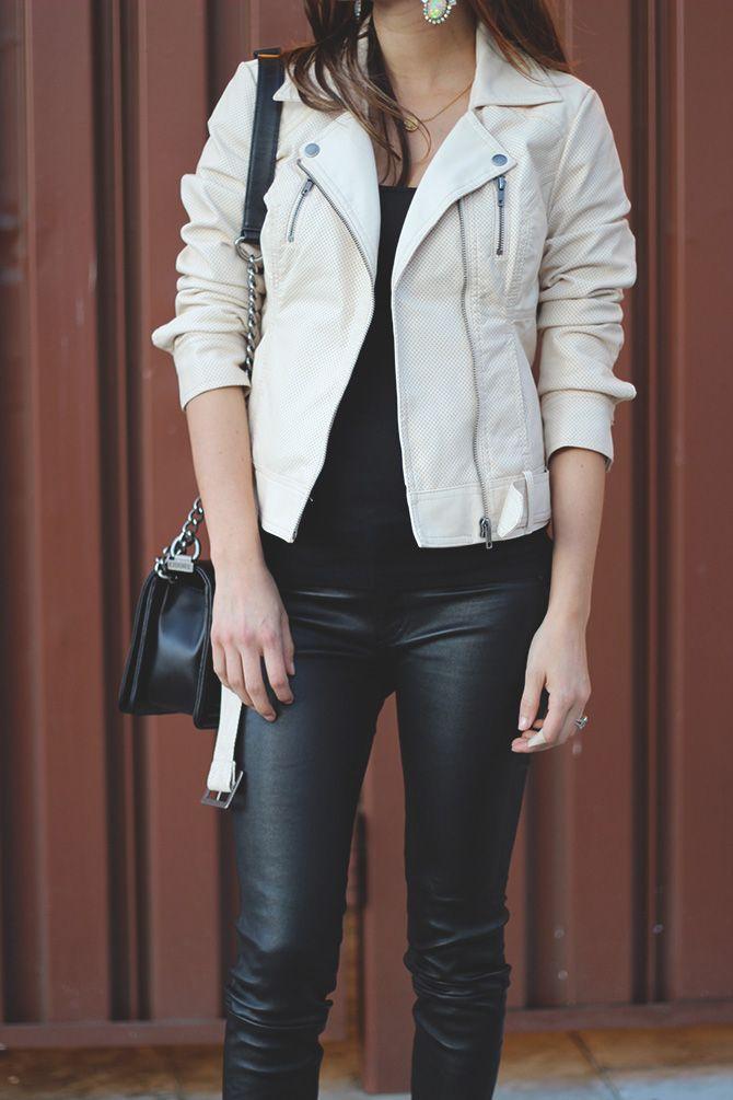 Moto Jacket + Leather Pants | My style | Pinterest