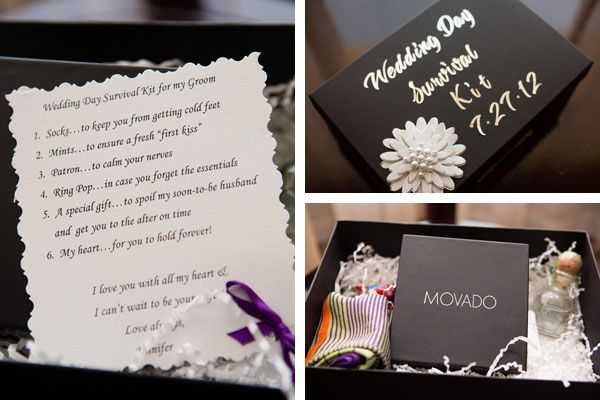 Cute Wedding Gifts For Groom : Wedding Day Survival Kit