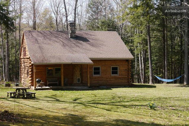 Catskills secluded log cabin for Cabins in the catskills