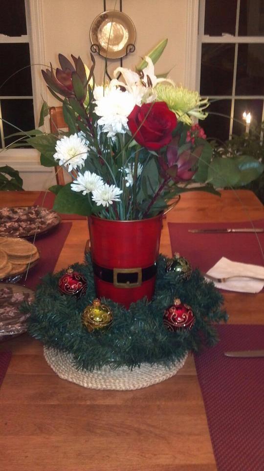 Creative christmas centerpiece pinterest