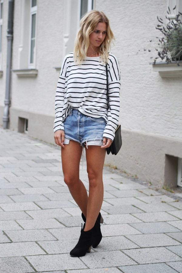 Stripes + cutoffs.