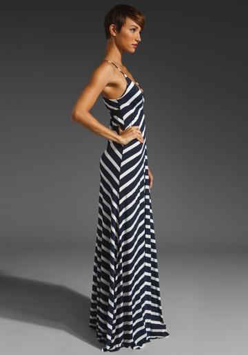 EIGHT SIXTY Stripe Maxi Dres