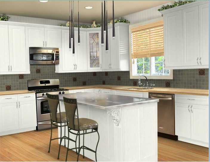 my virtual kitchen makeover dream home pinterest. Black Bedroom Furniture Sets. Home Design Ideas