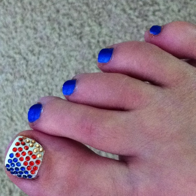 OKC THUNDER pedicure By Justine